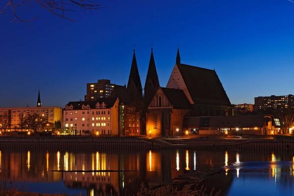 Frankfurt an der Oder am Abend