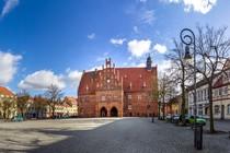 Marktplatz und Rathaus der Stadt Jüterbog