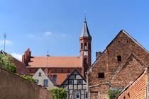 Historische Gebäude und Rathaus von Perleberg