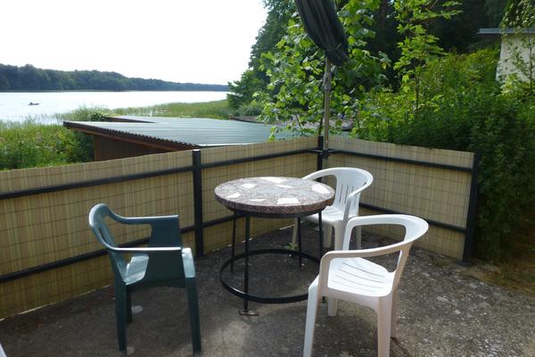 Ferienhaus Uckermark direkt am Lübbesee Terrasse Seeblick