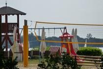 Badestrand am Templiner See mit Spielplatz