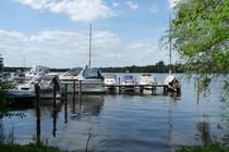 Templiner See mit Booten