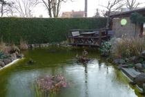 Ferienhaus Spreewald Straupitz Gartenteich mit Sitzecke