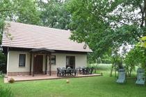 Ferienwohnung Spreewald Burg Garten mit Liegestühlen