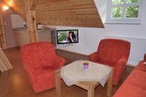 Ferienwohnung Spreewald Burg Couch und Fernseher