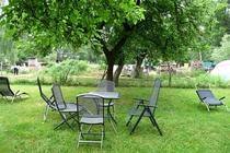 Ferienwohnung Spreewald Burg Sitzmöglichkeiten im Garten