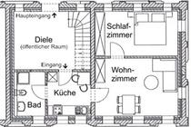 Spreewald Ferienwohnung Burg Grundriss