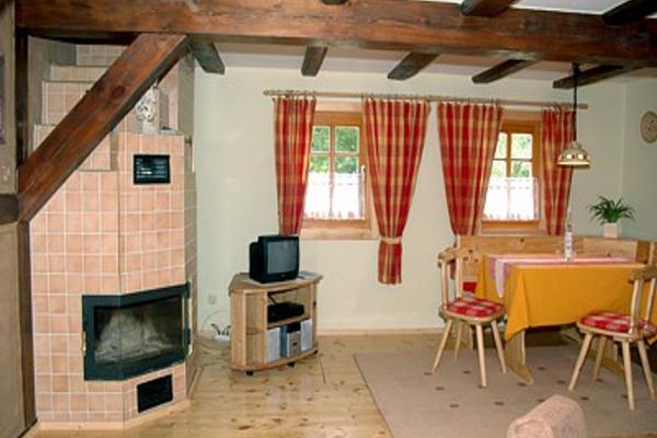 Spreewald Ferienwohnung Burg Wohnzimmer