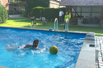 Ferienwohnung Spreewald Pool schwimmen