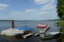 Schwielowsee Boote am Hafen