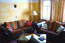 Ferienwohnung Spreewald Straupitz Wohnzimmer Couch