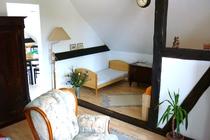 Ferienwohnung Spreewald Straupitz Wohnzimmer Schlafbereich