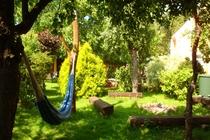 Ferienwohnung Spreewald Straupitz Garten Hängeschaukel