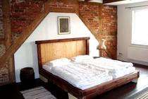 Ferienhaus Spreewald Golßen Gersdorf Schlafzimmer mit Doppelbett