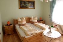 Ferienwohnung Spreewald Schlepzig Doppelbett Schlafzimmer