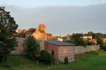 Lychen Stadtmauer Stadtblick