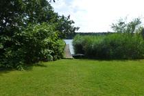 Ferienhaus Templin am See Garten Steg