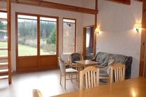 Ferienhaus Boitzenburger Land Thomsdorf Sommerland Wohnzimmer Couch
