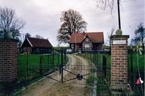 Ferienhaus Elbe Wootz Auffahrt