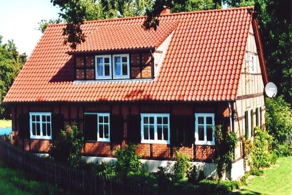 Ferienhaus Elbe Wootz Außenansicht