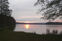 Ferienwohnung Stechlin Dagow Stechlinsee Sonnenuntergang